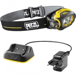 PETZL PIXA 3R Black&yellow EU/US charger